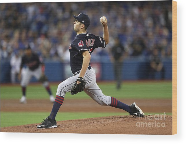 People Wood Print featuring the photograph Trevor Bauer by Elsa
