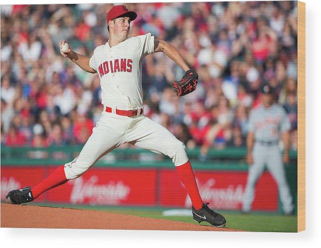American League Baseball Wood Print featuring the photograph Trevor Bauer by Jason Miller