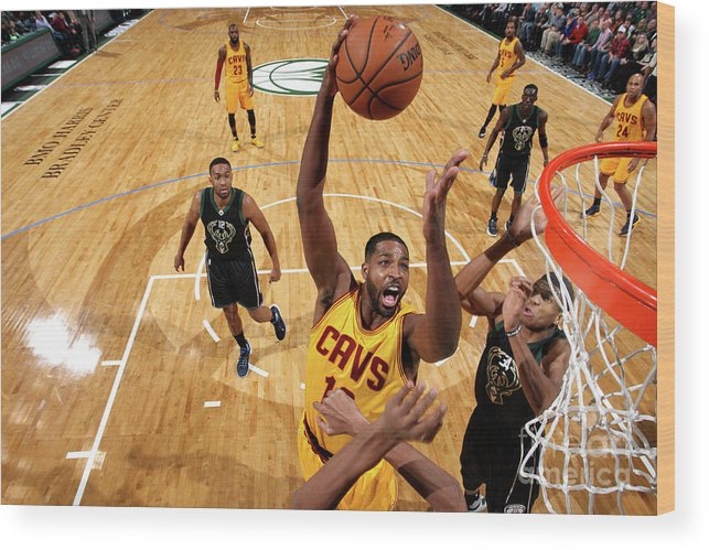 Nba Pro Basketball Wood Print featuring the photograph Tristan Thompson by Gary Dineen