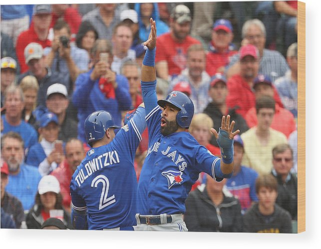 Game Two Wood Print featuring the photograph Troy Tulowitzki by Scott Halleran