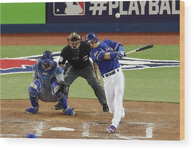 People Wood Print featuring the photograph Troy Tulowitzki by Vaughn Ridley