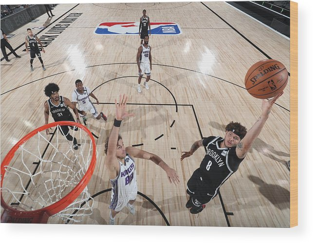 Nba Pro Basketball Wood Print featuring the photograph Tyler Johnson by David Sherman