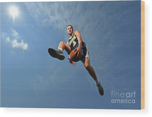 Nba Pro Basketball Wood Print featuring the photograph Tyler Lydon by Jesse D. Garrabrant