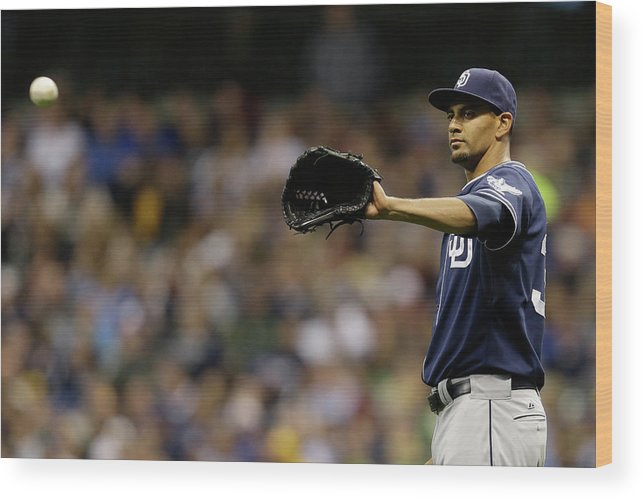 Wisconsin Wood Print featuring the photograph Tyson Ross by Mike Mcginnis