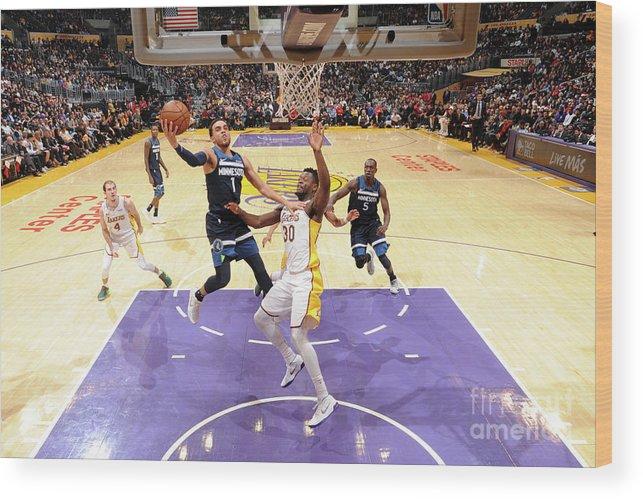 Nba Pro Basketball Wood Print featuring the photograph Tyus Jones by Andrew D. Bernstein
