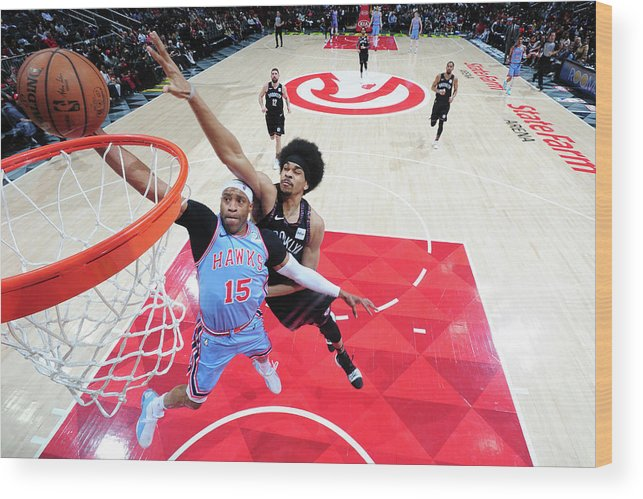Atlanta Wood Print featuring the photograph Vince Carter and Jarrett Allen by Scott Cunningham