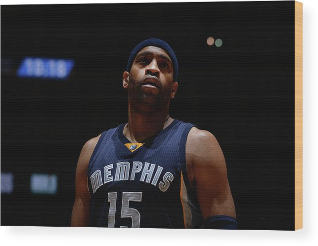 Nba Pro Basketball Wood Print featuring the photograph Vince Carter by Bart Young