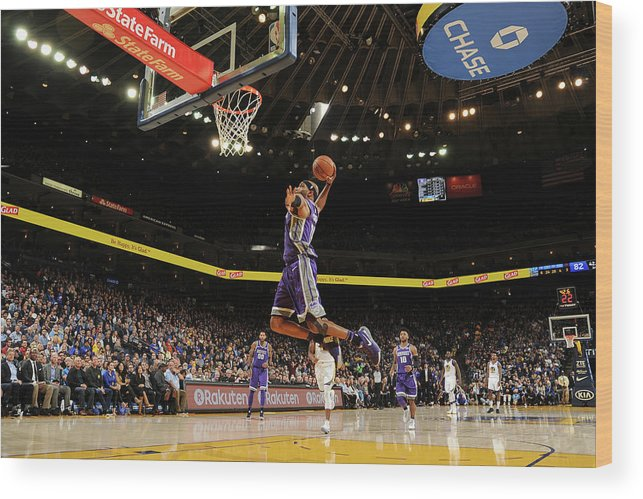 Nba Pro Basketball Wood Print featuring the photograph Vince Carter by Noah Graham