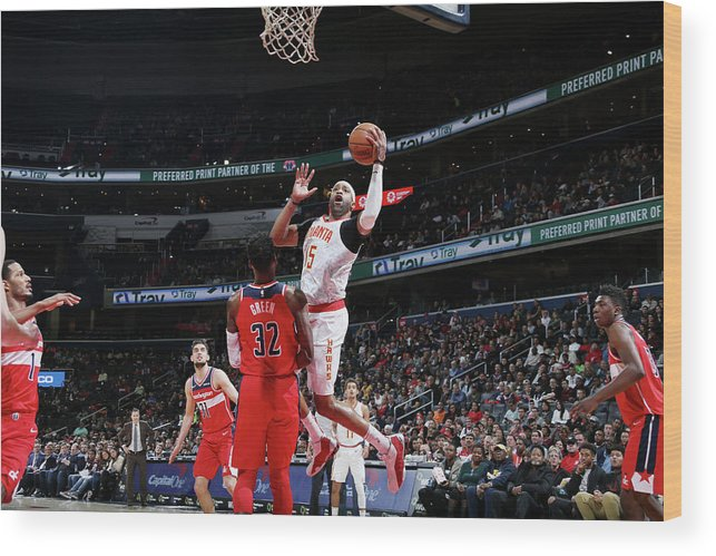 Nba Pro Basketball Wood Print featuring the photograph Vince Carter by Stephen Gosling