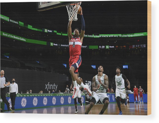 Nba Pro Basketball Wood Print featuring the photograph Washington Wizards v Boston Celtics by Brian Babineau