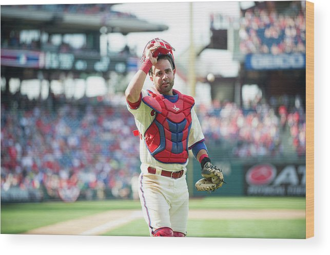 Citizens Bank Park Wood Print featuring the photograph Wil Nieves by Rob Tringali