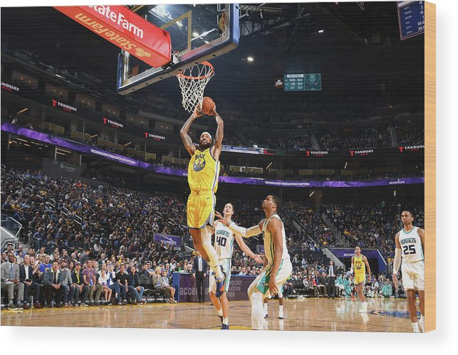 San Francisco Wood Print featuring the photograph Willie Cauley-stein by Noah Graham