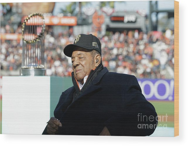 San Francisco Wood Print featuring the photograph Willie Mays by Pool