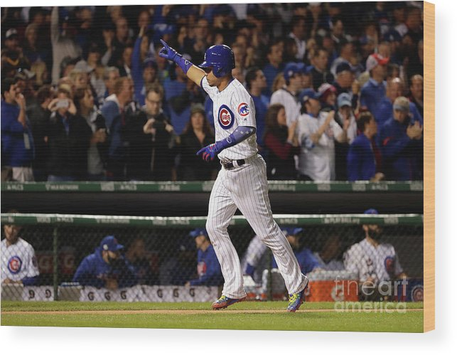 Second Inning Wood Print featuring the photograph Willson Contreras by Jamie Squire