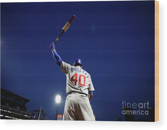 Three Quarter Length Wood Print featuring the photograph Willson Contreras by Justin K. Aller