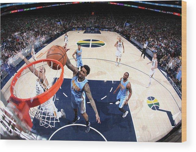 Nba Pro Basketball Wood Print featuring the photograph Wilson Chandler by Melissa Majchrzak