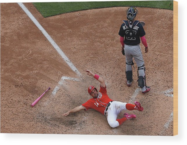People Wood Print featuring the photograph Wilson Ramos and Ryan Zimmerman by Patrick Smith