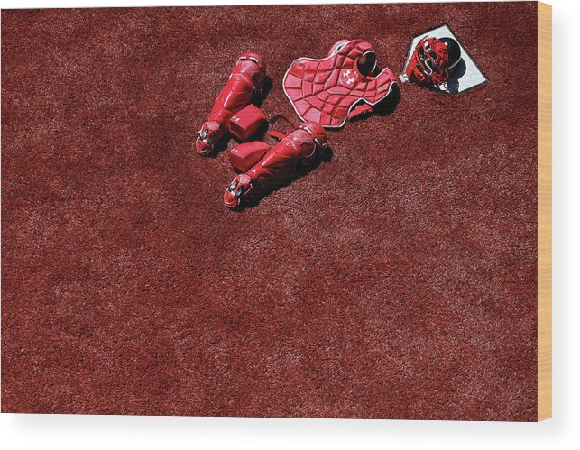 Catching Wood Print featuring the photograph Wilson Ramos by Patrick Smith