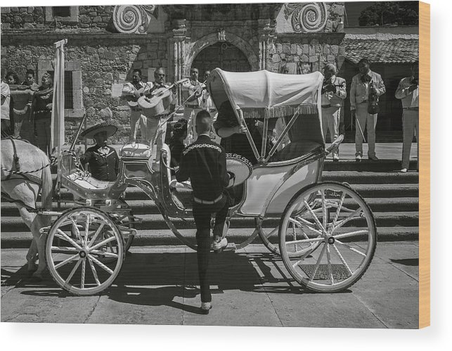Escaramuza Wood Print featuring the photograph Wooden Carriage in Mexico by Dane Strom