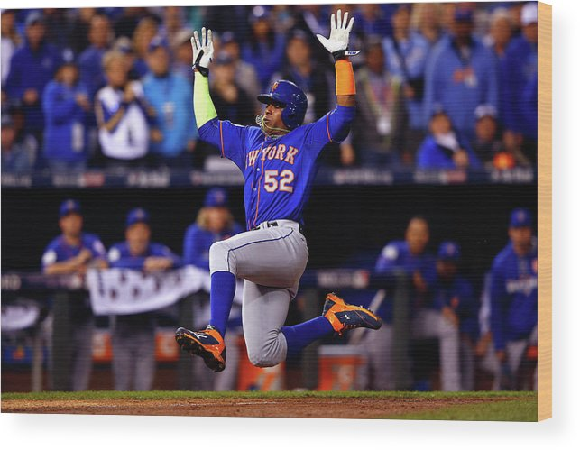 Yoenis Cespedes Wood Print featuring the photograph Yoenis Cespedes by Jamie Squire