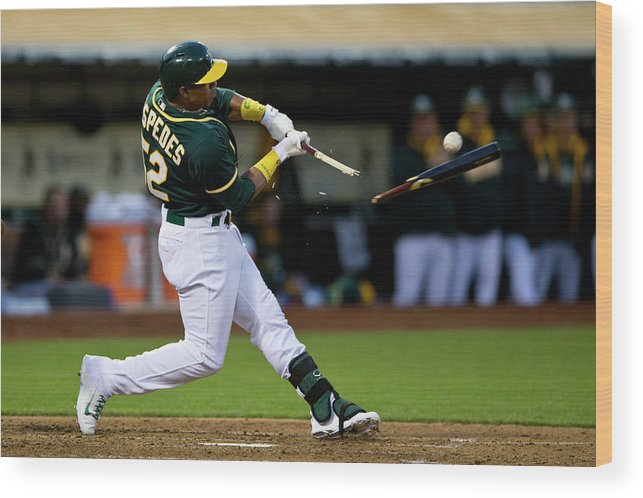 Yoenis Cespedes Wood Print featuring the photograph Yoenis Cespedes by Jason O. Watson