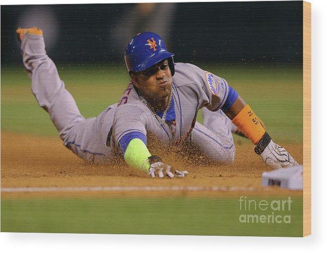 Yoenis Cespedes Wood Print featuring the photograph Yoenis Cespedes by Justin Edmonds