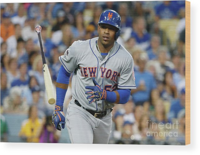 Game Two Wood Print featuring the photograph Yoenis Cespedes by Sean M. Haffey
