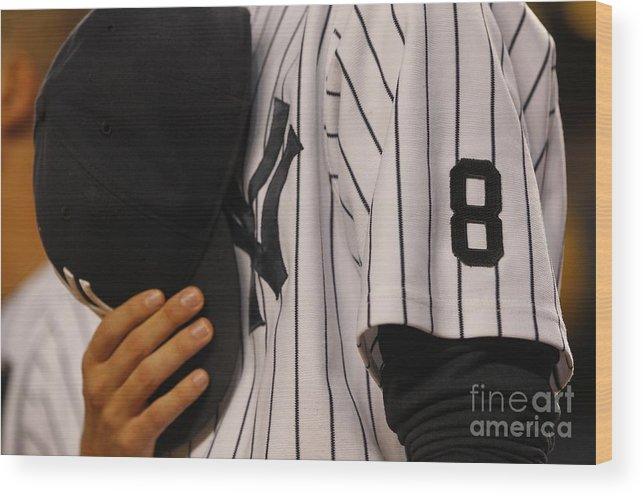 American League Baseball Wood Print featuring the photograph Yogi Berra by Richard Schultz