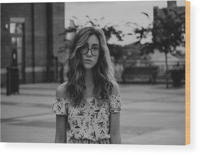 People Wood Print featuring the photograph Young Woman With Eyeglasses by Sarah Somers / EyeEm