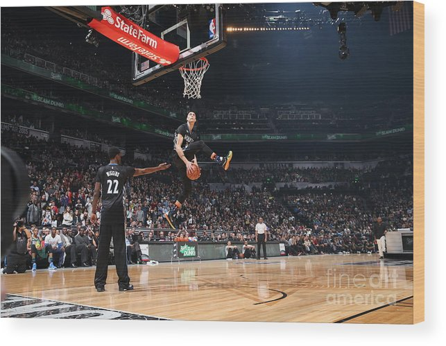 Event Wood Print featuring the photograph Zach Lavine by Reid Kelley