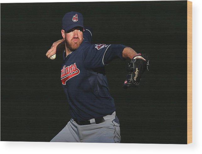 American League Baseball Wood Print featuring the photograph Zach Mcallister by Jeff Gross