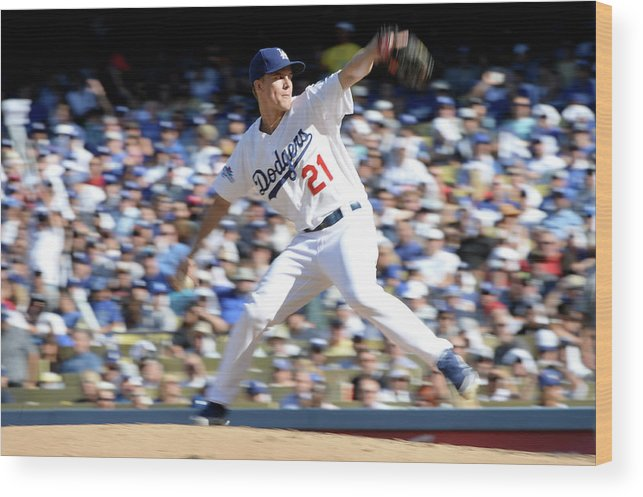 American League Baseball Wood Print featuring the photograph Zack Greinke by Harry How