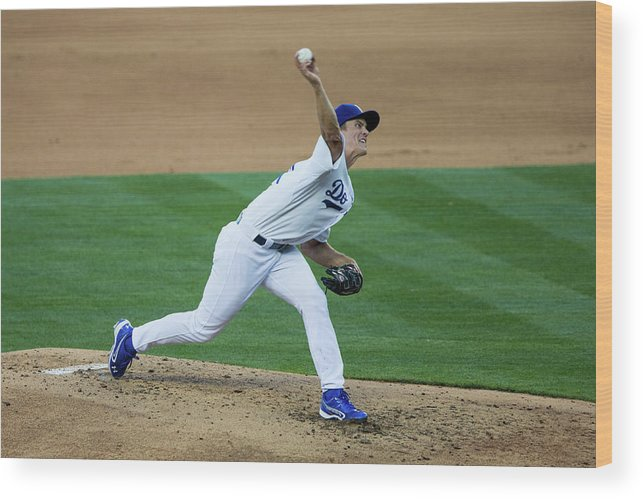 California Wood Print featuring the photograph Zack Greinke by Paul Spinelli