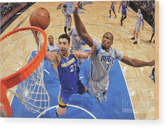 Nba Pro Basketball Wood Print featuring the photograph Zaza Pachulia by Fernando Medina