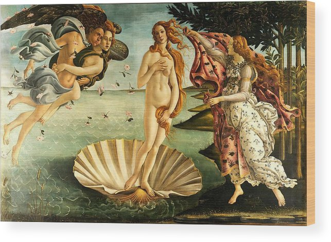 Botticelli Wood Print featuring the painting The Birth Of Venus by Sandro Botticelli