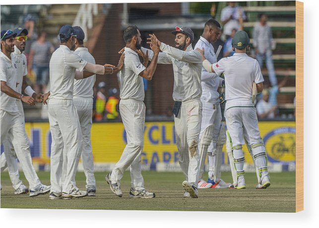 International Match Wood Print featuring the photograph 3rd Sunfoil Test: South Africa v India, Day 4 by Gallo Images