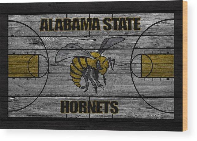 Hornets Wood Print featuring the photograph Alabama State Hornets by Joe Hamilton