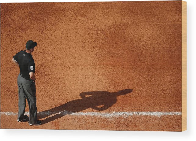 American League Baseball Wood Print featuring the photograph Chicago White Sox V Houston Astros by Scott Halleran