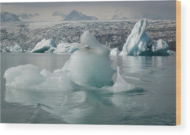 Tranquility Wood Print featuring the photograph Jokularsson Glacier Lagoon by Jamie Gordon