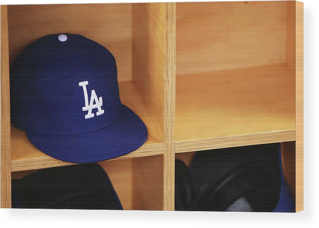 Season Wood Print featuring the photograph Los Angeles Dodgers V Arizona by Mark Nolan