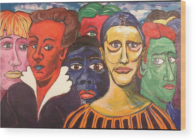 Viewers Wood Print featuring the painting Parade by Rollin Kocsis