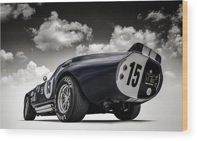 Shelby Wood Print featuring the digital art Shelby Daytona by Douglas Pittman