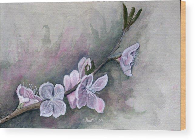 Rick Huotari Wood Print featuring the painting Spring Splendor by Rick Huotari