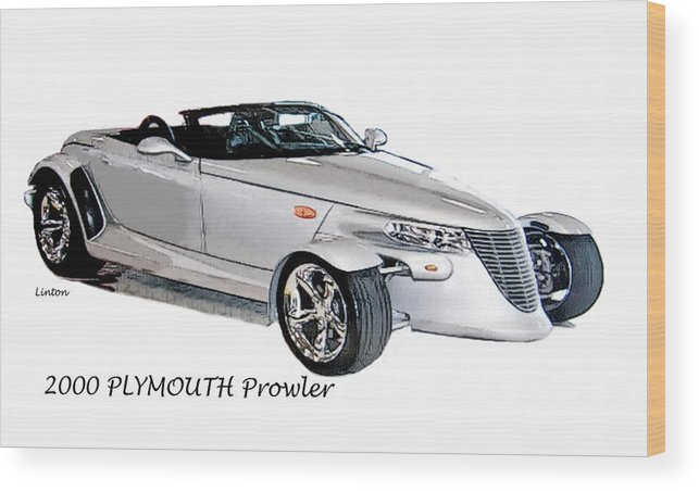 Plymouth Prowler Wood Print featuring the digital art Prowler by Larry Linton