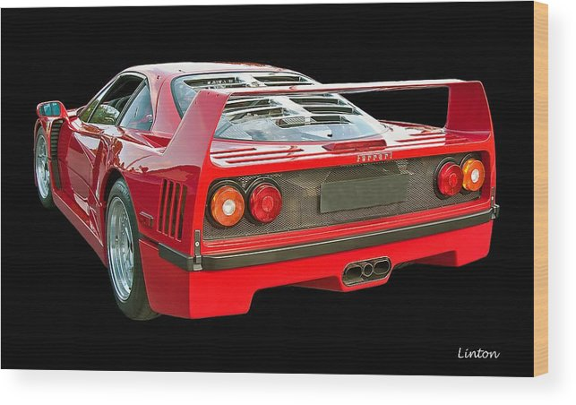 Ferrari F40 Wood Print featuring the photograph Spoiler 2 by Larry Linton