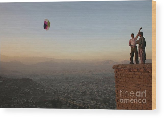 Scenics Wood Print featuring the photograph Kabul Is Shown In Transition by Paula Bronstein