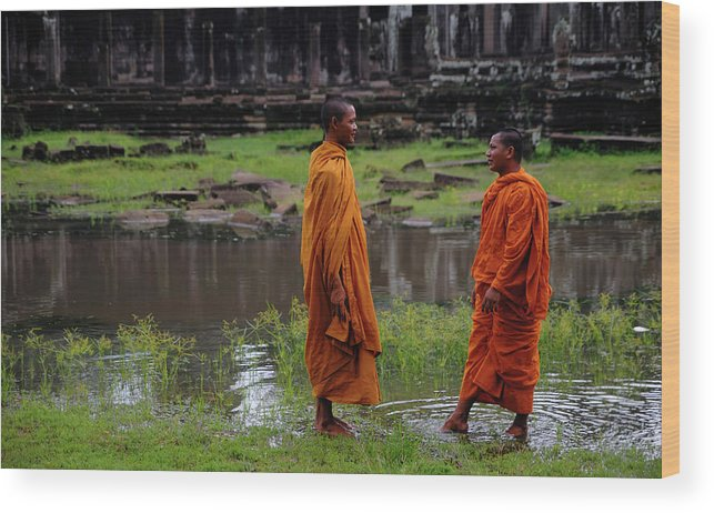 Southeast Asia Wood Print featuring the photograph Cambodia by Rawpixel