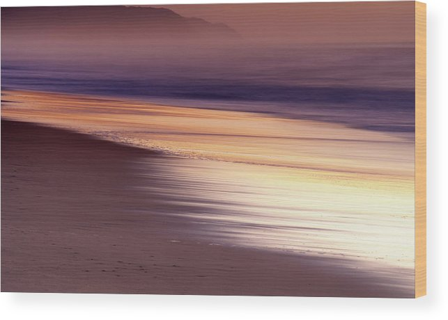Tranquility Wood Print featuring the photograph Long Exposure Of Water At Dawn With by Emil Von Maltitz