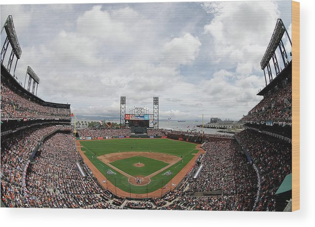 San Francisco Wood Print featuring the photograph Barry Zito by Ezra Shaw