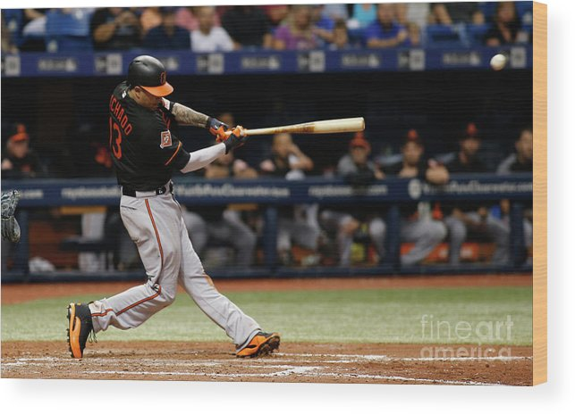 People Wood Print featuring the photograph Manny Machado by Brian Blanco